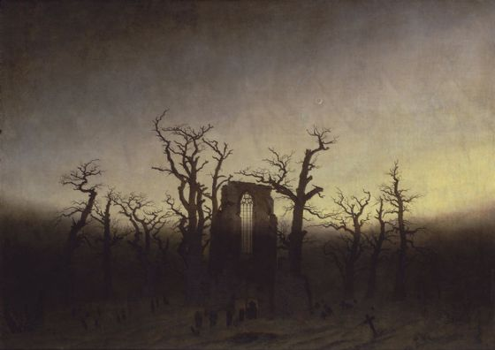 Friedrich, Casper David: Abbey Among Oak Trees (Abtei im Eichwald). Fine Art Print/Poster. Sizes: A4/A3/A2/A1 (003908)